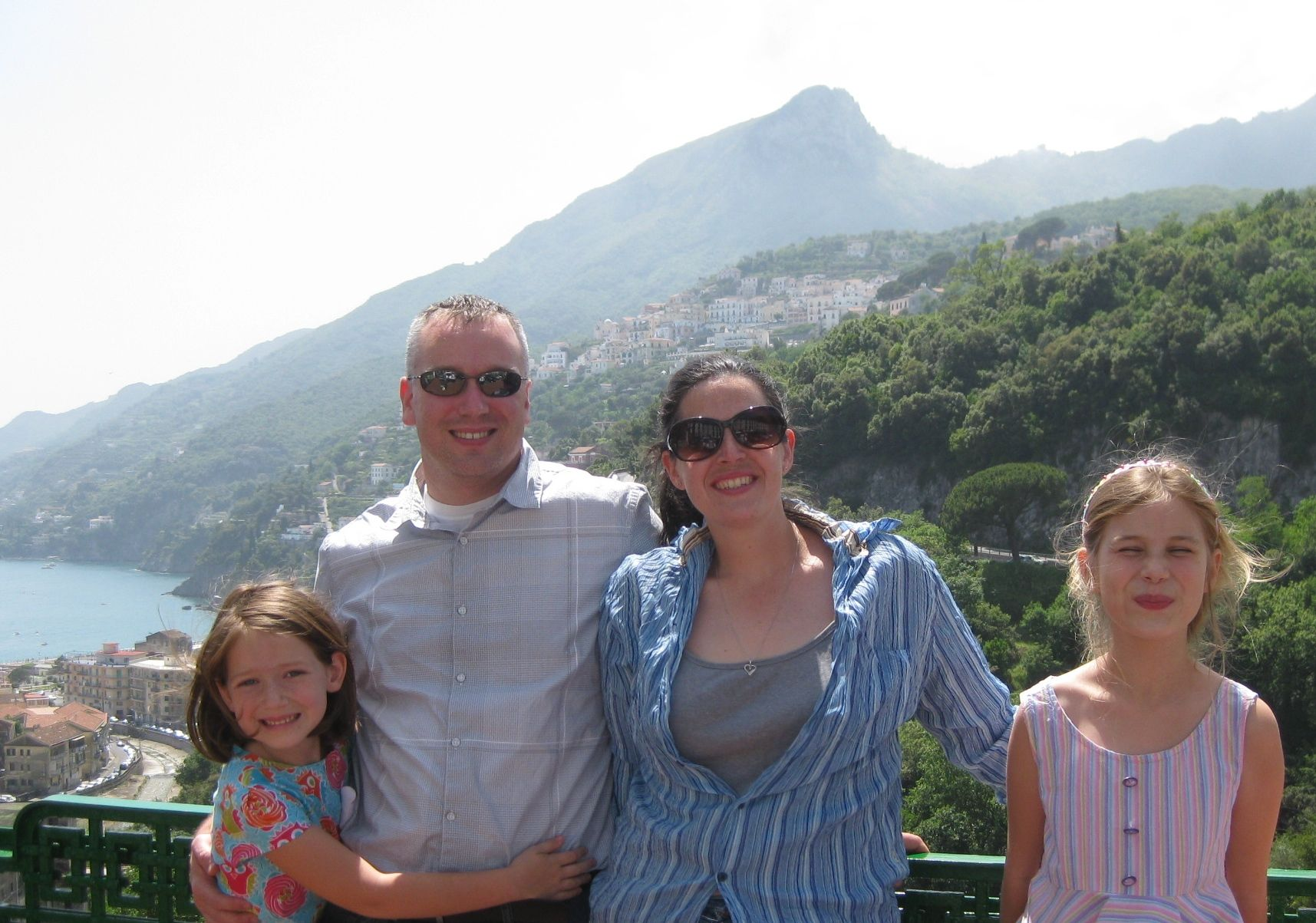 family photo in Vietro Italy